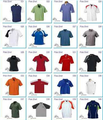 Model dan Desain Corak baju pakaian olahraga