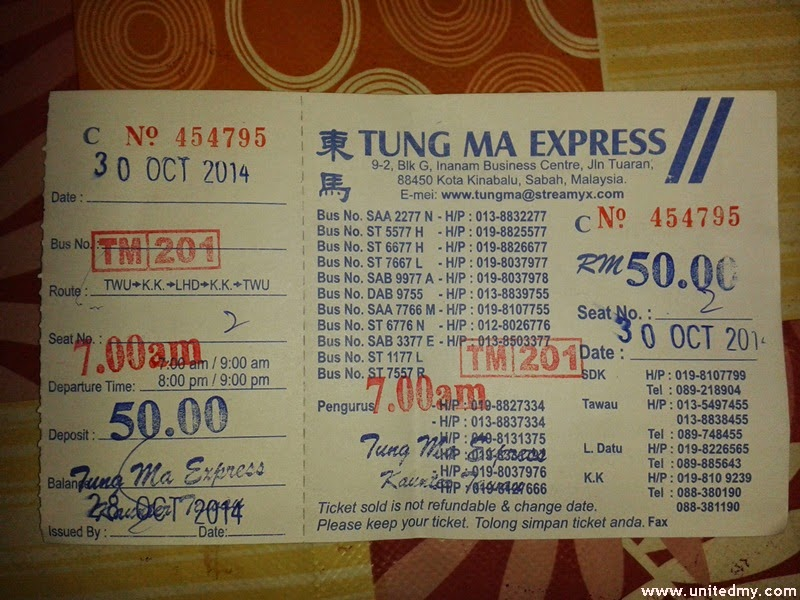 Tung ma ticket