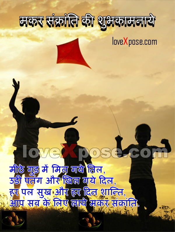 Makar Sankranti Hindi Wishes whatsapp Greetings Card