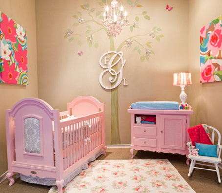 Ideas for baby rooms for Baby girl room decoration