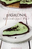 Pasikonik (Grasshopper Pie) - Tarta bez pieczenia