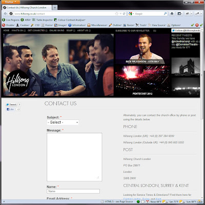 Screen shot of http://www.hillsong.co.uk/contact.