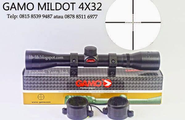 jual scope gamo mildot fix 4x32 murah
