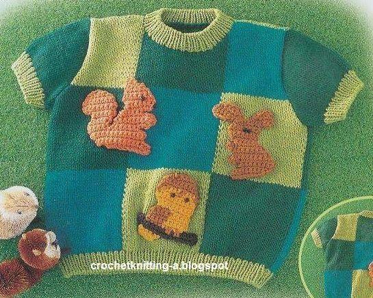Детский пуловер связан спицами