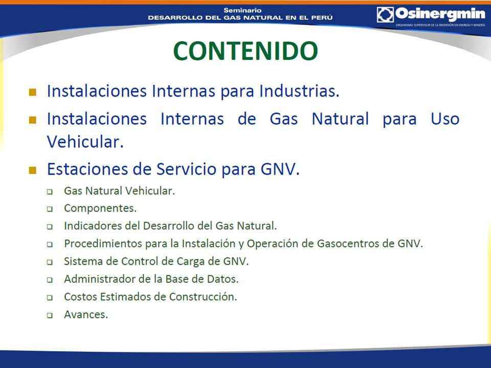 Servicios complementarios de gas natural s a c for Gas natural servicios