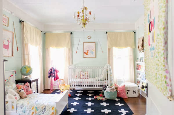 Joyful life shared nursery baby toddler rooms for Bedroom ideas shared with baby