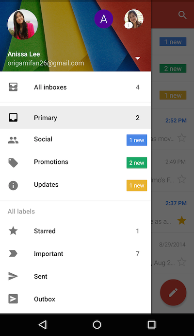 make gmail account android