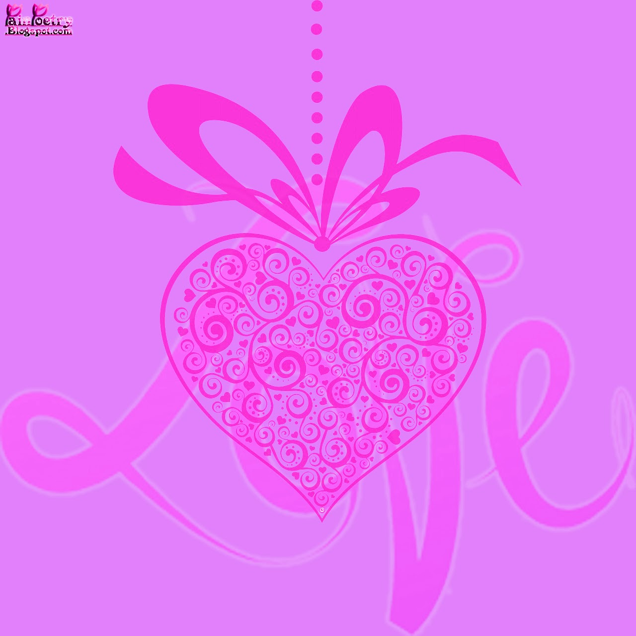 Happy-Valentines-Day-Of-Celebration-For-Lovers-With-Heart-Image-HD-Wide