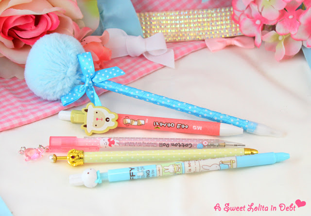 cute pens, cute pencil, miffy pen, kawaii pens, pastel pens, cool pencil case