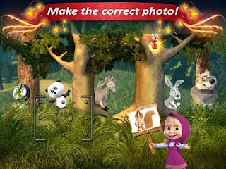 Screenshots of the Masha and the Bear for Android tablet, phone.