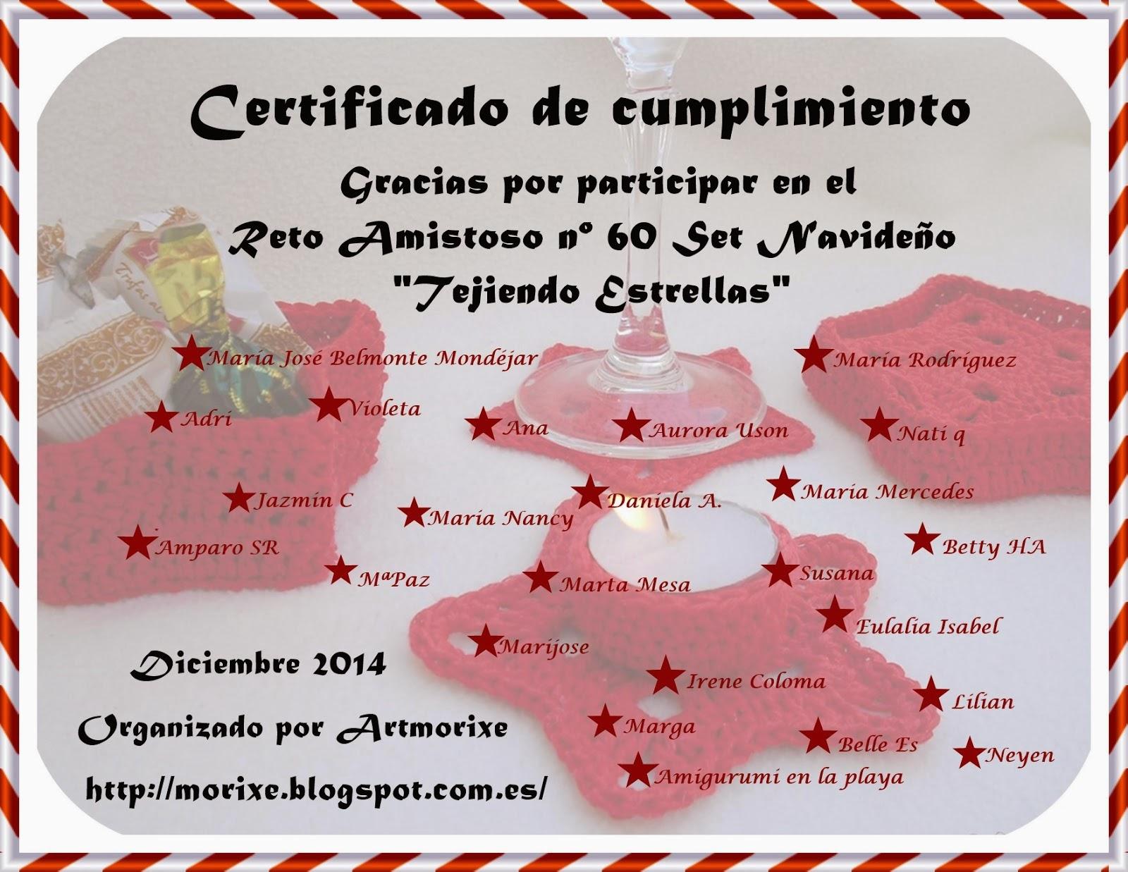 Certificado reto nº 60