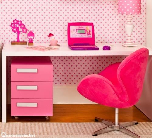 Escrivaninha Para Quarto Com Cadeira ~   Duda Dica de decora??o Mesinha de trabalho Escrivaninha