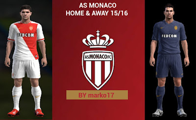 PES 2013 AS Monaco 15-16 Home & Away by marko17