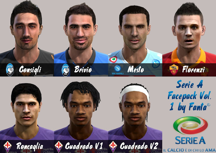 PES 2013 Serie A Facepack by Fanta