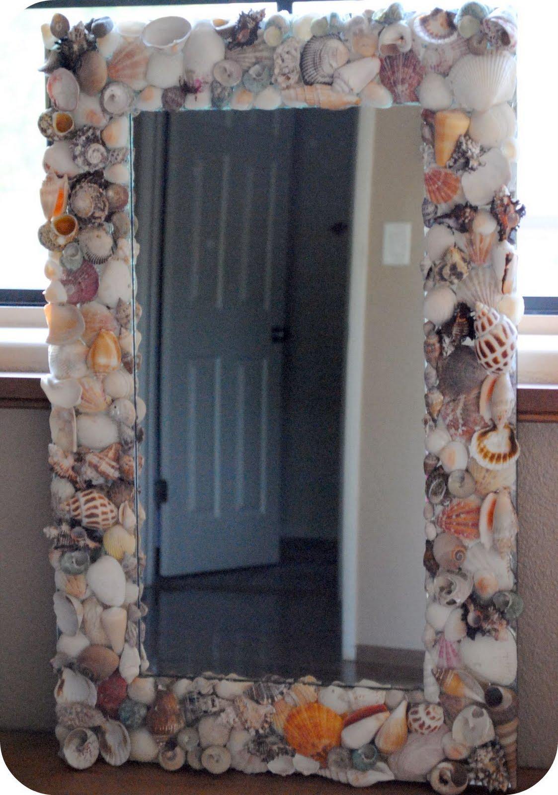 Зеркало украсить ракушками