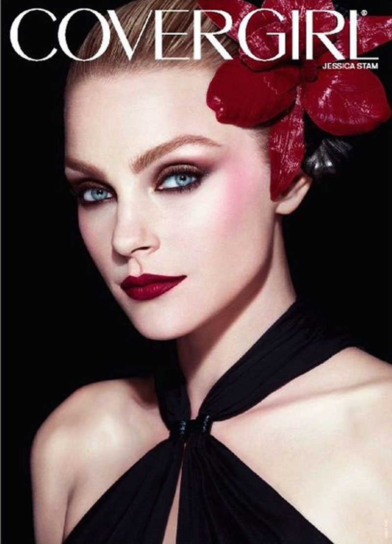 covergirl1 Jessica Stam para CoverGirl!