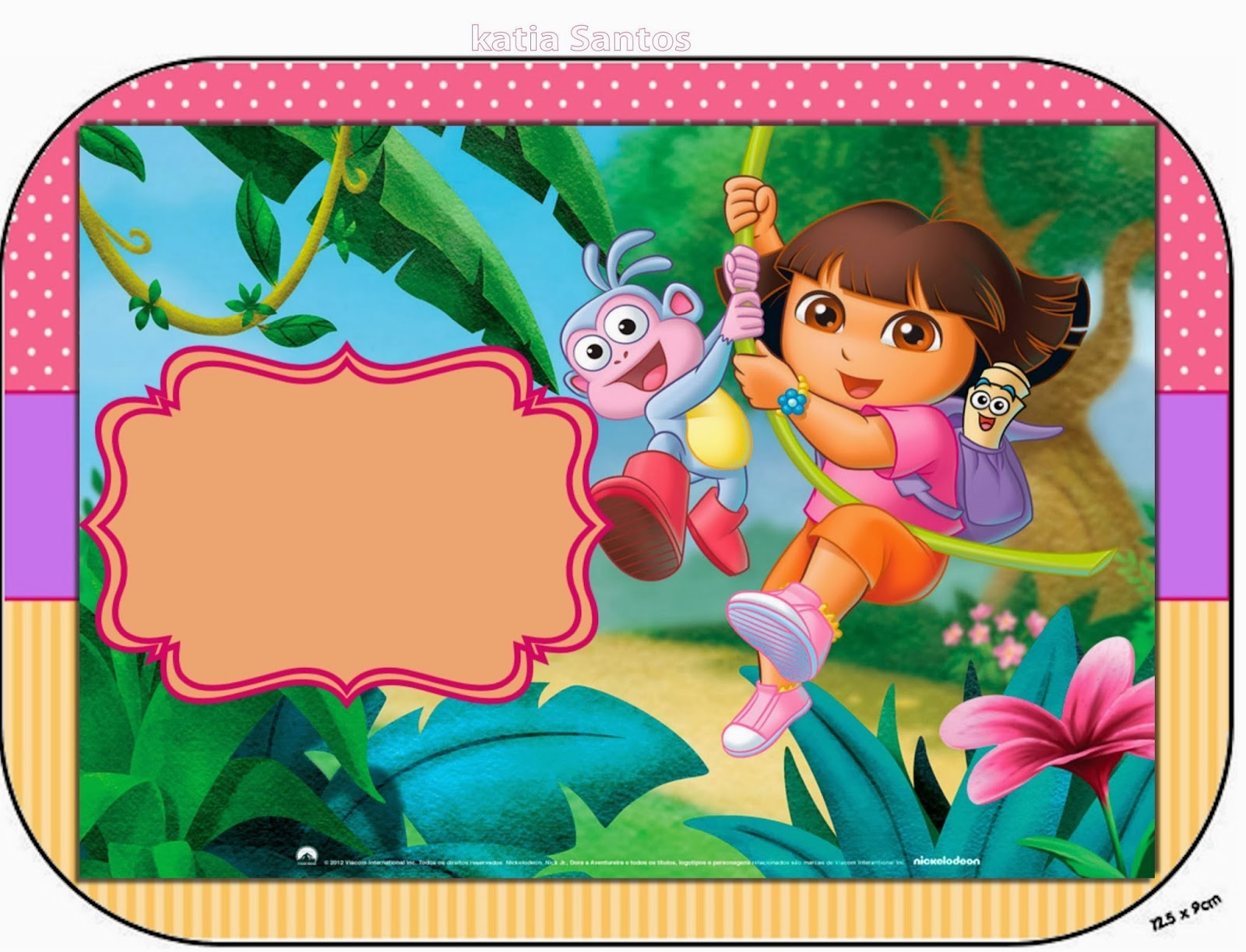 Dora the Explorer Free Printable Candy Bar Labels and Images. | Is ...