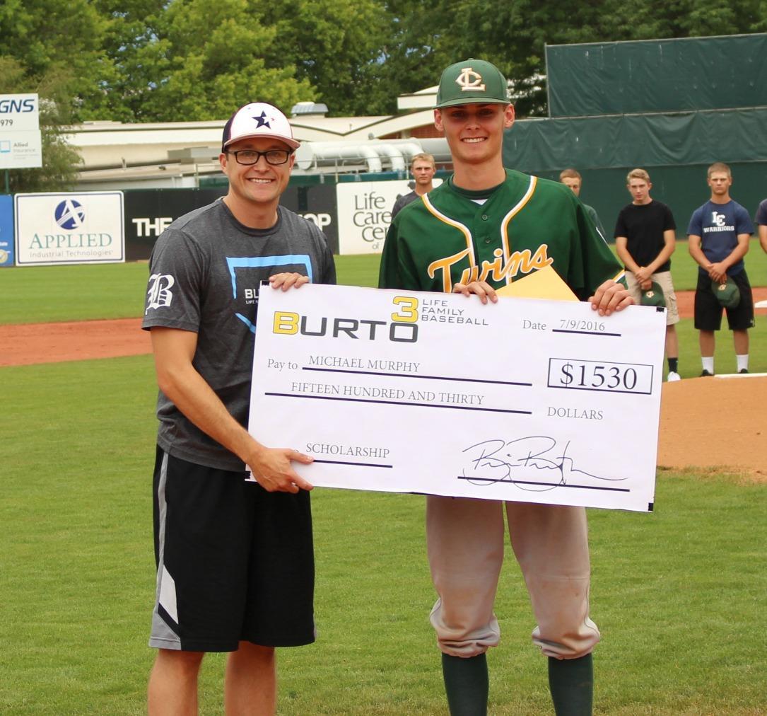 The 2016 $1530 Josh Burton Memorial Scholarship Winner Michael Murphy