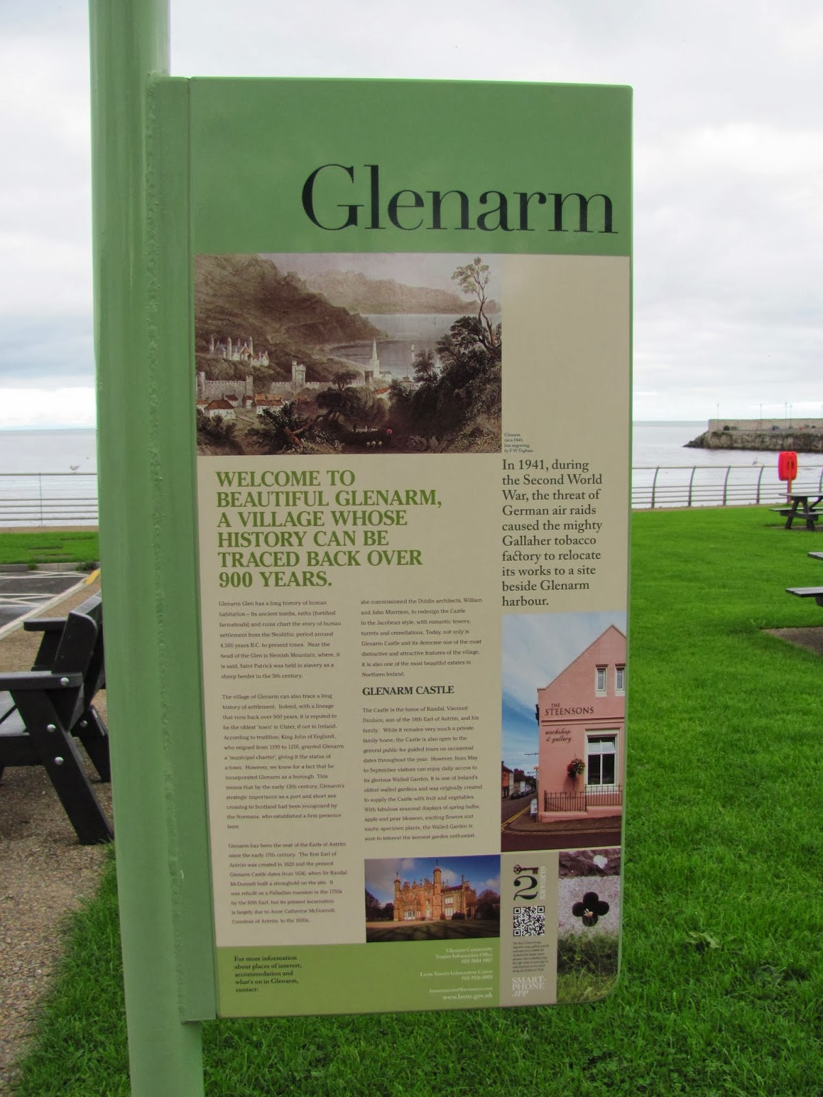 A Glenarm park sign in Northern Ireland