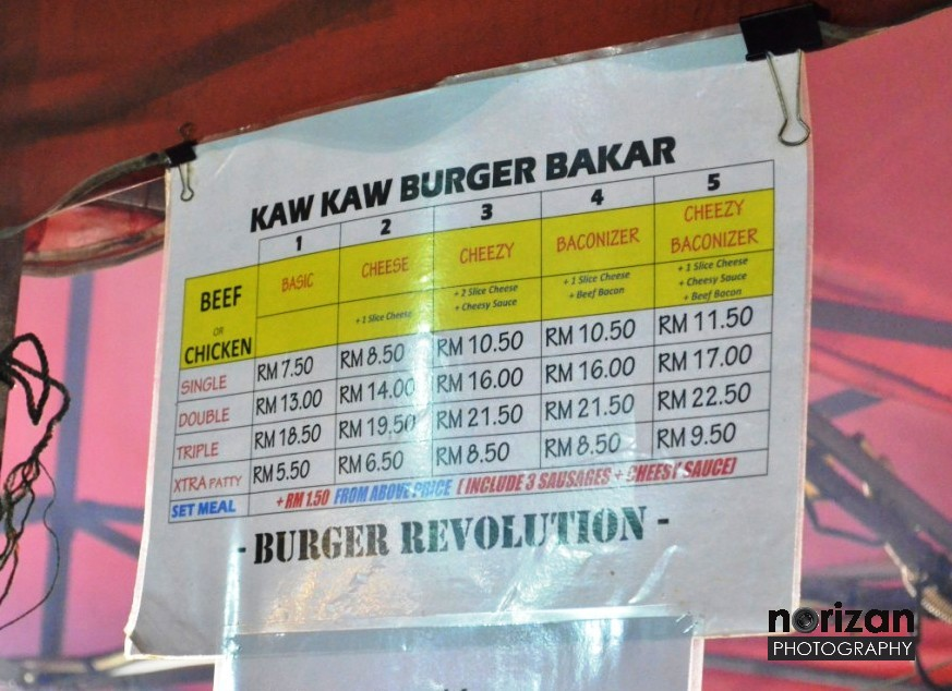 JJCM : Kaw Kaw Burger Bakar, Puchong