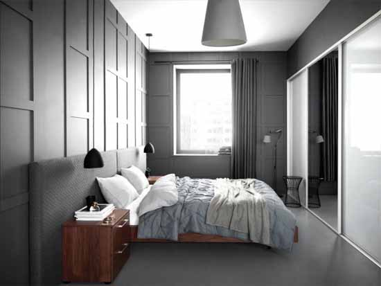 grey bedroom paint