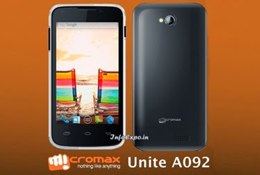 Micromax Unite A092: 4-inch Android Phone Specs and Price India