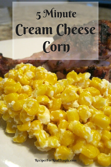 Make this 5 Minute Cream Cheese Corn in the microwave for a quick side dish.