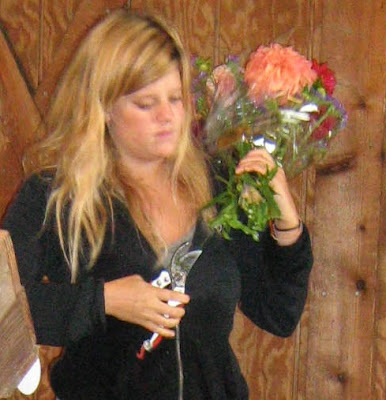 Kate and bouquet