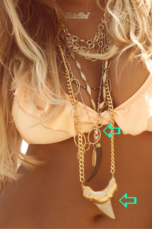 Aubrey O'Day wearing a Jenny Dayco necklace