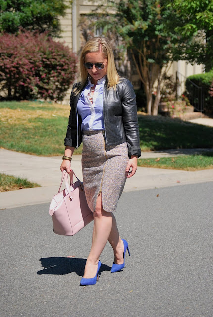 what to wear to work, JCrew Sparkle Tweed skirt