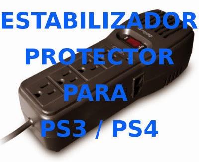 Estabilizador Protector Para Ps3 Ps4 Tv (no Transformador) Lima Peru Playstation Sony Soporte tecnico Servicio tecnico Mantenimiento Reparacion