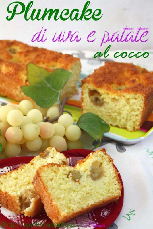 plumcake dolce di uva e patate al cocco 2