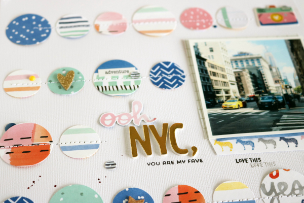 Ooh NYC, you are my fave | Scrapbooking Layout