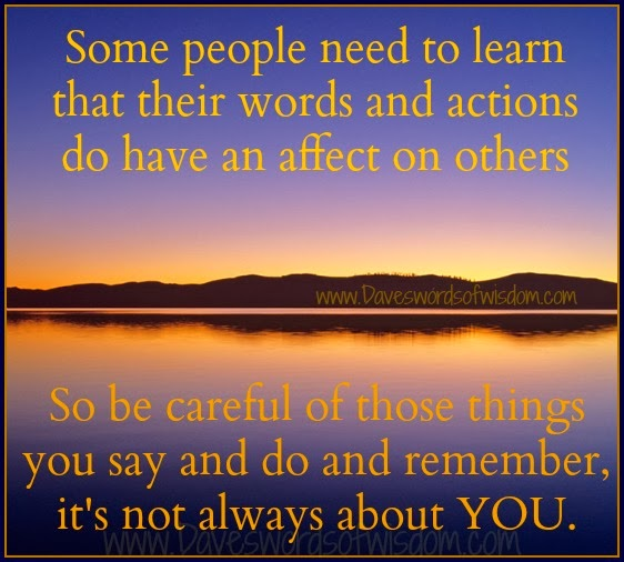 how my actions affect others A lesson plan and activity to help children understand how their actions affect themselves and others, to care about other people's feelings and to try to see things from other people's point of view.