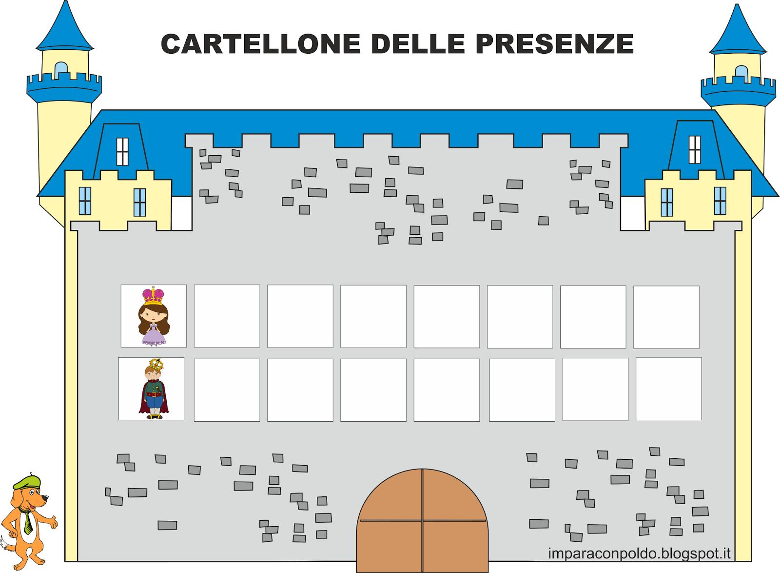A scuola con poldo cartellone delle presenze for Cartelloni scuola infanzia