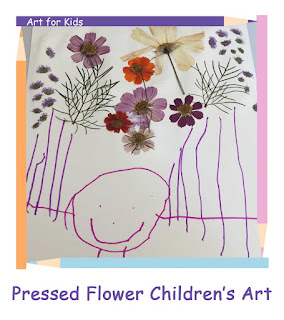 Tickled by the Creative Bug - Pressed Flower Children's Art: Link to blog post