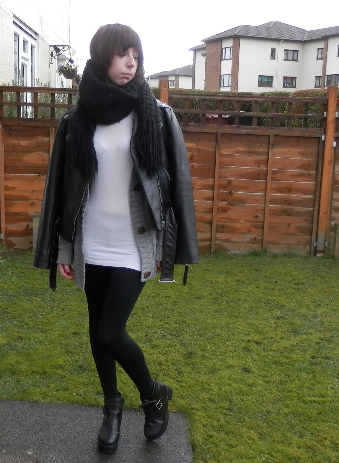 What i'd wear to london fashion week, leather jacket