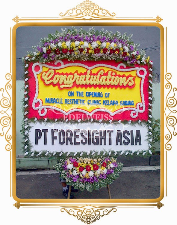 bunga papan selamat & sukses