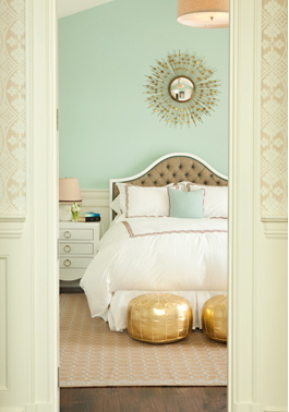 Orange door home home mint green for Peach and gold bedroom