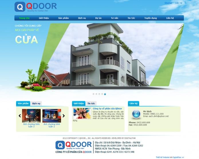 công ty thiết kế website công trình xây dựng