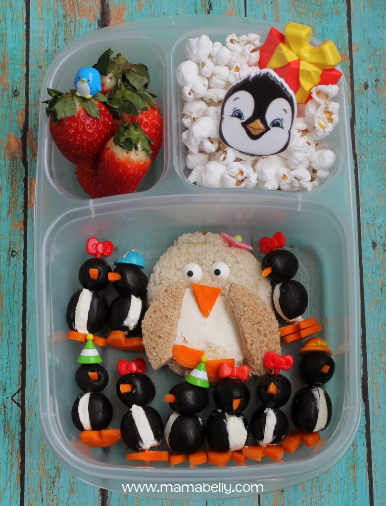 Penguin School Lunch in Easylunchboxes - mamabelly.com