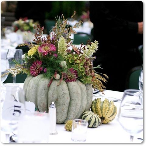 dekoration blommor pumpa