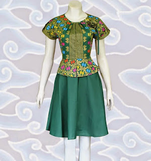 baju dress batik wanita