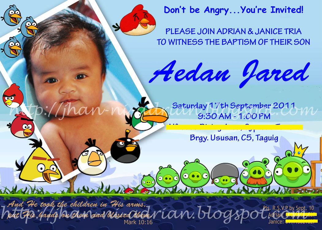 6th Attempt Theme Angry Birds Version 3 The FINAL Invitation