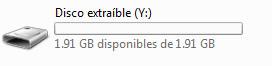 Recuperar capacidad normal USB