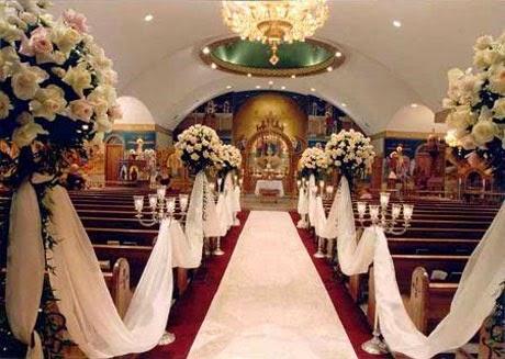 Decoracion de Iglesias para Bodas con Flores, parte 1