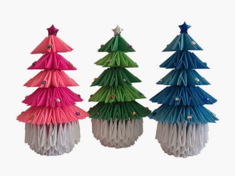 3D Origami Christmas Tree - Origami Maniacs: 3D Origami Christmas Tree