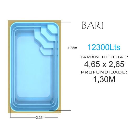 Piscina de fibra- Bari 12300Lts linha Tropica