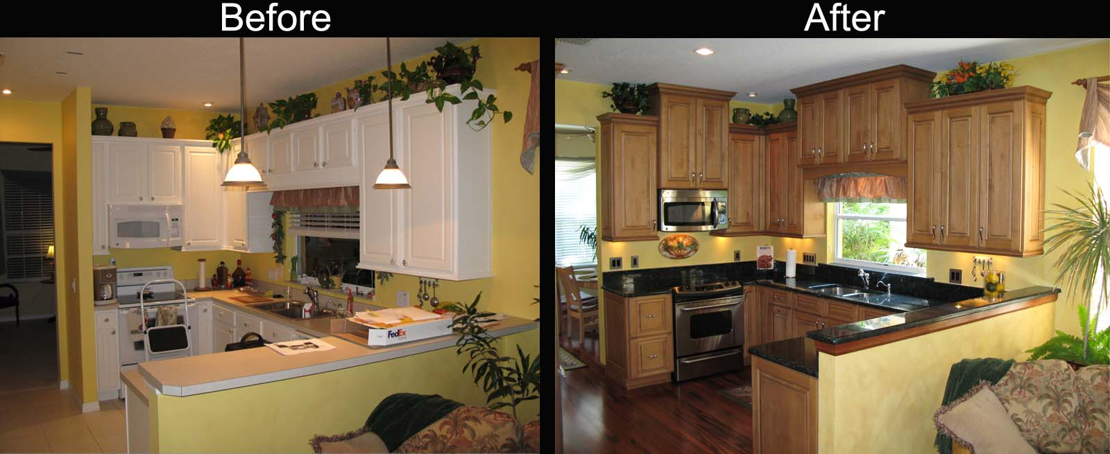 Kitchen decor kitchen remodel before and after for Kitchen cupboard makeover before and after