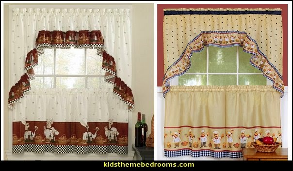 Fat Chef Kitchen Curtains Savory